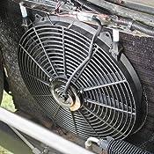 DealMux DC 12V 12 Auto Universal del radiador del Coche de A//C del Motor refrigerador Ventilador de refrigeraci/ón Negro