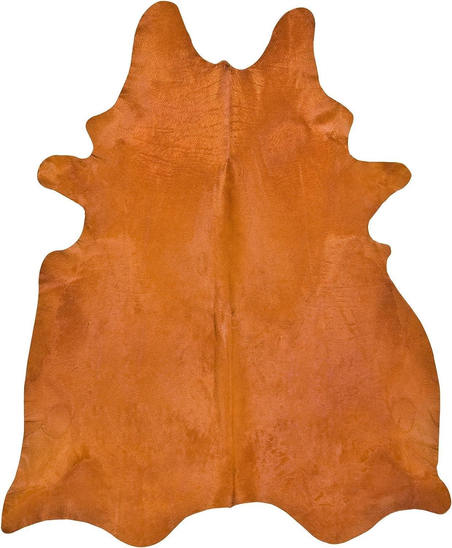 Cowhide Imports Orange Dyed Cowhide Rug L Furniture Decor