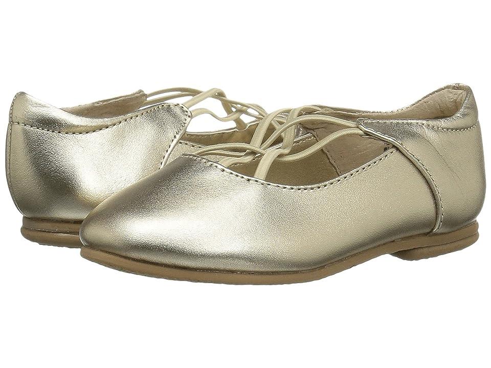Jumping Jacks Kids Balleto Kendra (Toddler/Little Kid/Big Kid) (Gold Metallic Leather) Girls Shoes