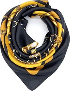 Best black and gold silk scarf Reviews