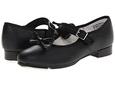 Capezio Kids Mary Jane 3800C (Toddler/Little Kid) (Black Leather) Girls Shoes
