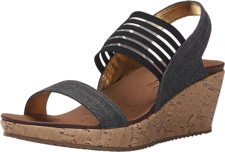Skechers Sandalen Sandaletten, Farbe Schwarz, Marke, Modell Sandalen Sandaletten 38527S Schwarz  | Nicht so teuer  | Modern Und Elegant  | Economy