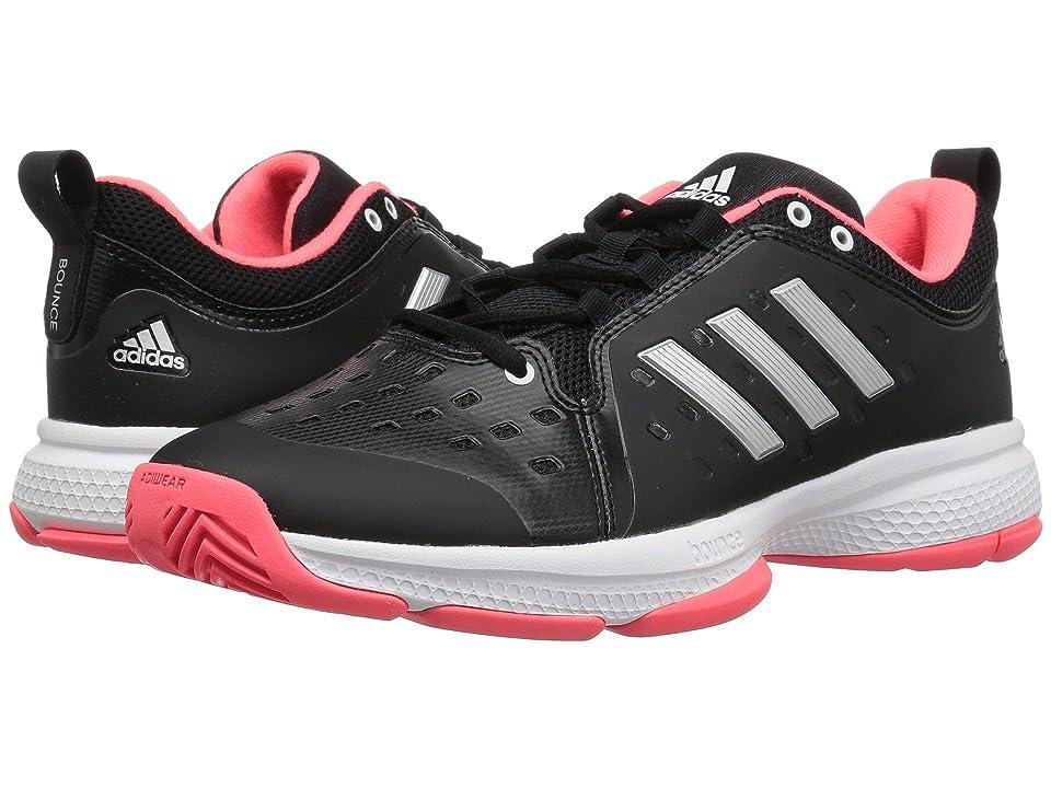 adidas Barricade Classic Bounce (Black/Matte Silver/Flash Red) Men