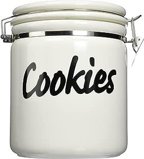 Oggi Jumbo 9-1/2-Inch Ceramic Cookie Jar, White