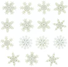 Snowflakes Dress It Up Embellishments-Snow!