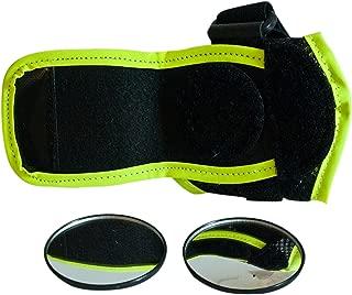 VectorVelo Rear View Bike Mirror and Bike Accessories for BMX, Mountain Bike, Kid Bike, Bicycle Mirror, Wrist Support, Rear View Mirror, Wrist Mirror Bicycle Accessory for Bike Helmets, Bike Gloves