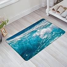 Ocean Theme Blue Sea Waves Door Mats Kitchen Floor Bath Entrance Rug Mat Absorbent Indoor Bathroom Decor Doormats Rubber Non Slip 18