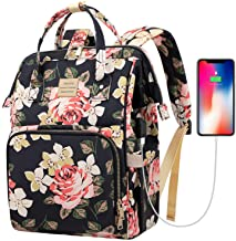 Laptop Backpack,15.6 Inch Stylish College School Backpack with USB Charging Port,Water..