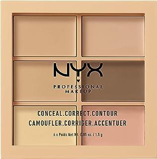 NYX Professional Makeup Paleta de correctores y contouring Conceal Correct Contour Palette 6 sombras Textura cremosa ...