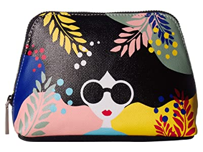 Alice + Olivia Nikki Printed Cosmetic Case (Fantasy Stace Face) Handbags