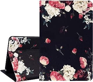 Hepix Floral iPad Mini 5 Case, Penoy Flowers iPad Case Mini 4, PU Leather Case for Girls, Protective iPad Mini 5 Cover, Auto Sleep/Wake Anti-Slip