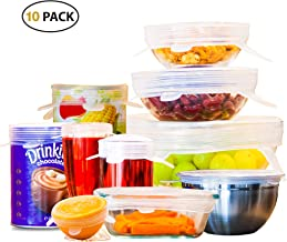 OZCOTC Value Pack - 10 Silicone Stretch Lids | Incl. XL - 24 cm - and 4 Small Cup - 7 cm - Lids | Reusable Expandable Dura...