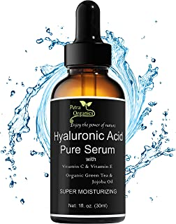 Hyaluronic Acid Serum for Face with Vitamin C - Pure and Natural Face Serum - Anti Aging Serum - Anti Wrinkle Serum - Hyaluronic Acid with Vit C Serum - 1fl.oz / 30ml