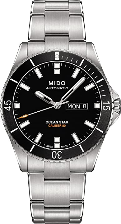 Orologio mido men`s ocean star captain 42.5mm automatic analog watch m026.430.11.051.00 M0264301105100