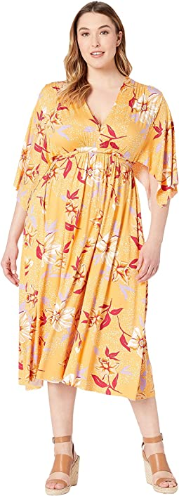 Plus Size Mid Length Caftan Dress