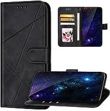 JAWSEU Fodral kompatibelt med Huawei P30, PU-läder telefonfodral flip plånbok folio stående fodral med korthållare fram oc...