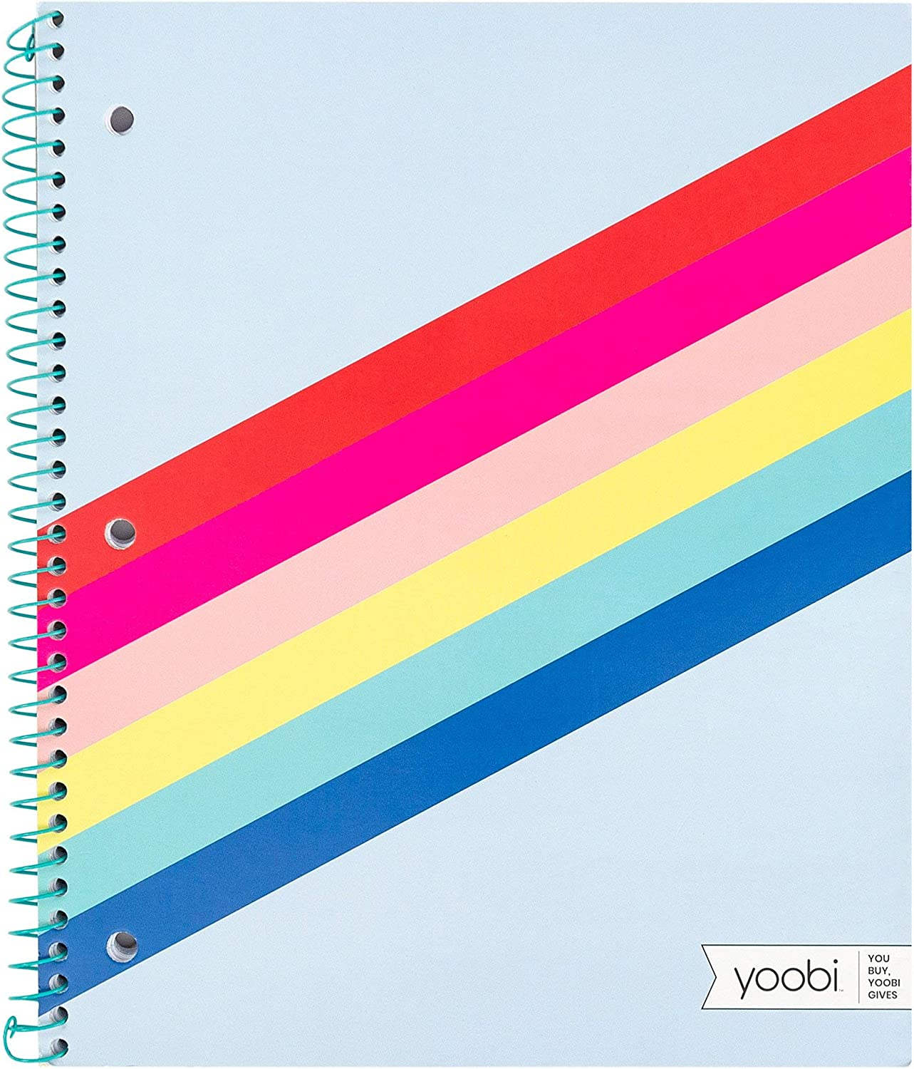 Yoobi Notebook 1 Subject Spiral Paper Cover Colle Special price for a limited time 11