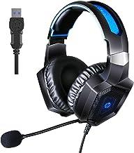 Fone de ouvido estéreo para jogos HP com som surround 7.1 com microfone para PC/Mac/Laptop Gamer com microfone com cancela...