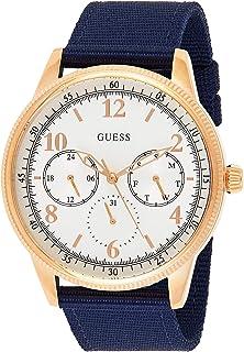 Guess Men's Cream Dial Fabric Band Watch - GUE_W0863G4