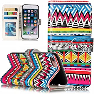 iPhone6 & iPhone6S enchased Tribal textureFlip Case Leather Cover Extra-Shockproof Business Wallet Cover Card Holders Kickstand