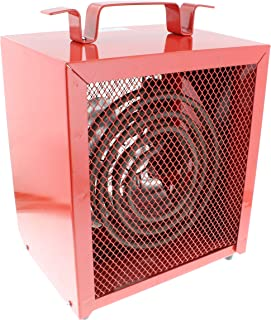 Comfort Zone CZ290 Portable 5000-Watt Fan-Forced Industrial Space Heater with Adjustable Thermostat Control and Safety Overheat Protection