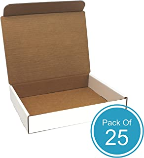 White Cardboard Shipping Box - Pack of 25, 11 x 8.75 x 2 Inches, White, Corrugated Box