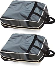 Home Candy Utility Collection 2 Piece Foldable Plastic Cloth Travel Shoe Bag, Grey