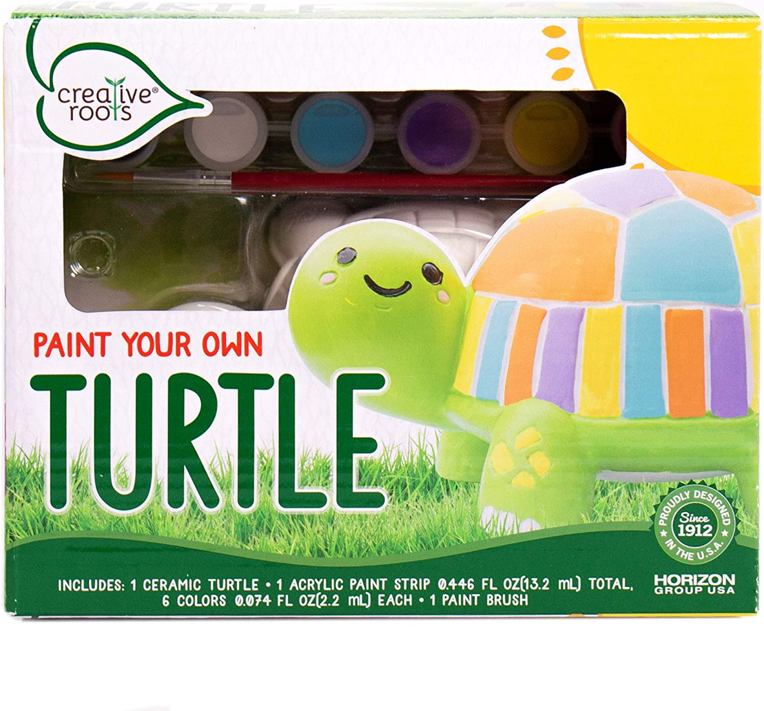 Purchase Creative Roots Now free shipping Paint Your Own Turtle Decor USA Group Horizon by