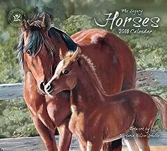 2018 12-Month Wall Calendar, Horses Calendar