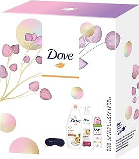 Dove Coffret Douceur avec un joli masque de nuit,Gel Douche Surgras,Lait pour le Corps Intensif & Déodorant Spray Beauty F...
