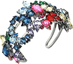 Rainbow Rhinestone Star Cluster Cuff Bracelet