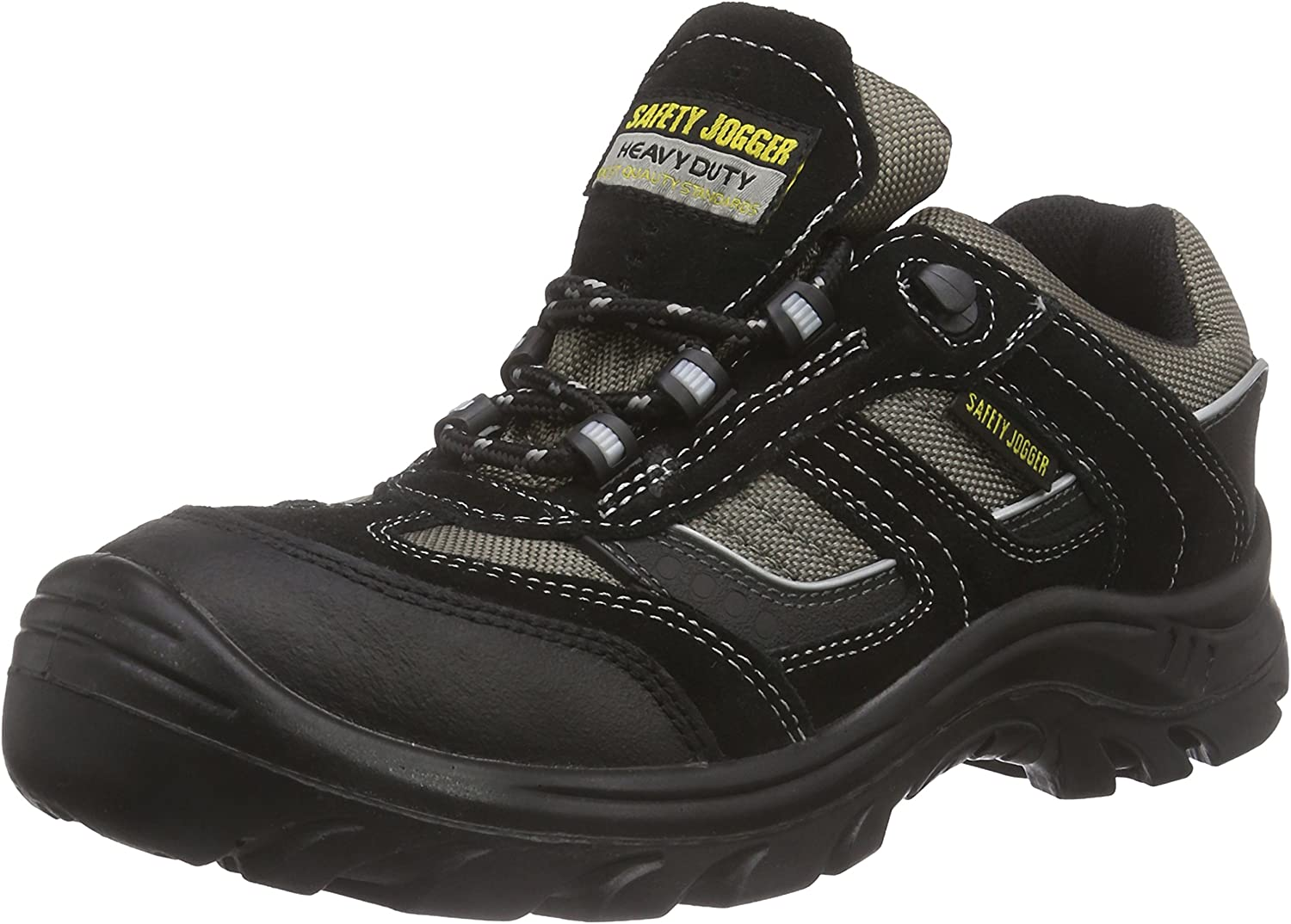 Safety Jogger Jumper, Unisex - Adults Working & Safety shoes S3, black, (blk blk dgr 117), EU 43