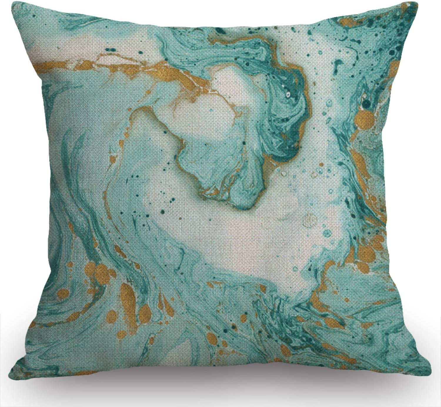 Swono Year-end annual account Turquoise Marble Throw Pillow Cover Home Cushion Popular brand in the world Case for