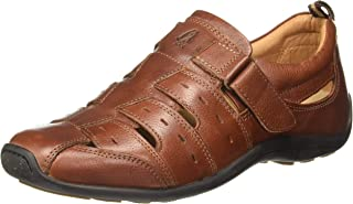 Hush Puppies Men's Robert Leather Fisherman Sandals