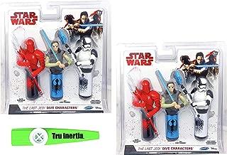 Tru Inertia Swimming Pool Dive Sticks Star Wars The Last Jedi Dive Characters Pool Toys Pack of 2 Kazoo (6 Dive Sticks Total)