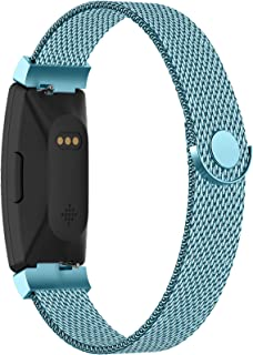 Adepoy Compatible with Fitbit Inspire Hr Bands, Stainless Steel Replacement Compatible for Fitbit Inspire/Ace 2 Metal Loop...