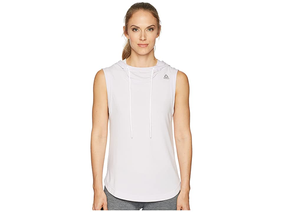 Reebok Workout Ready Sleeveless Hoodie (Quartz) Women
