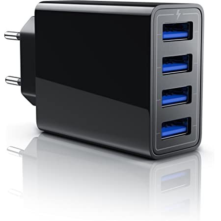 Hama Ladegerät 4 Port Mit Auto Detect Schwarz Computer Zubehör