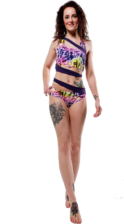 Wink Designs Siren Shorts W0158 (Large, Spiral Tie Dye Purple)