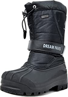 DREAM PAIRS Boys & Girls Mid Calf Waterproof Winter Snow Boots
