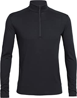 Icebreaker Merino Men's Oasis Long Sleeve Half Zip Top, Black, Large