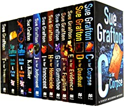 Sue Grafton 12 Books Collection Set RRP: $128.88 (Kinsey Millhone Mysteries) (Sue Grafton) (C is for Corpse, D is for Deadbeat, E is for Evidence, F is for Fugitive, G is for Gumshoe, H is for Homicide, I is for Innocent, J is for Judgment, K is for Killer, M is for Malice & N is for Noose, O is for Outlaw & P is for Peril, T is for Trespas)
