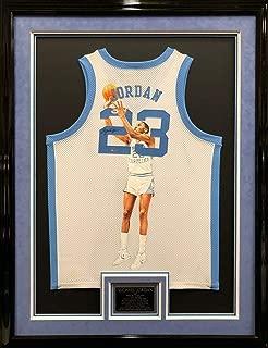 Autographed Michael Jordan Jersey - & Framed Painted - Upper Deck Certified - Autographed College Jerseys
