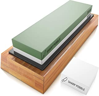 Sharp Pebble Premium Sharpening Stones 2 Side Grit 3000/8000 Whetstone – Best..