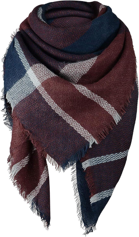 40% OFF Cheap Sale SALE% OFF Sale Women's Fall Winter Scarf Classic Plaid Tassel C Warm Soft