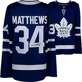 Auston Matthews Toronto Maple Leafs Autographed Blue Fanatics Breakaway Jersey - Fanatics Authentic Certified
