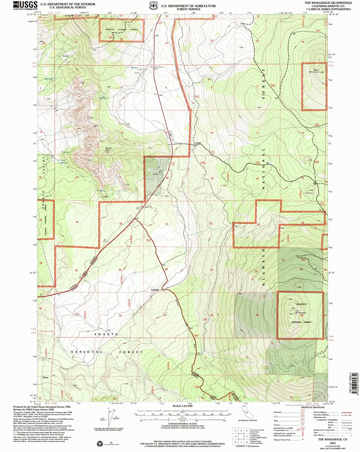 The Whaleback CA topo map, 1 24000 Scale, 7.5 X 7.5 Minute, Historical, 2001, Updated 2004, 26.7 x 21.4 in