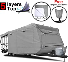 RVMasking 5-ply Top Travel Trailer RV Cover, Fits 26'1