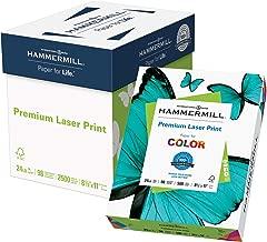 Hammermill Paper, Premium Laser Print Paper, 8.5 x 11 Paper, Letter Size, 24lb Paper, 98 Bright, 5 Reams / 2,500 Sheets (104640C) Acid Free Paper