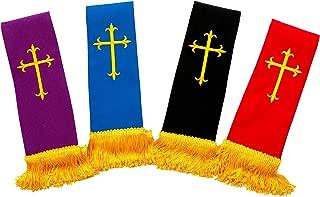 4 PACK SHORT CLERGY REVERSIBLE VISITATION STOLE